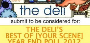 The Deli Magazine's Best of Portland Emerging Artists Year End Poll 2012 1st Place Honorable Mention